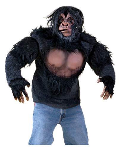 Horror-Shop Haariges Affenshirt mit Kunstfell als Kostümzubehör