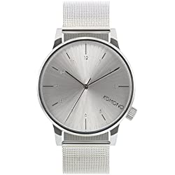Komono Men's Quartz Watch with Silver Dial Analogue Display and Silver Bracelet KOM-W2350