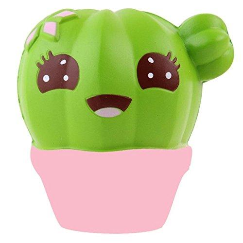 Squishy Antistress Spielzeug Slow Rising Kawaii Stress Relief,Kaktus-Creme, kolossales Ananas-Brötchen, Katzen-Kaffeetasse, Einhorn, Tiger (Leg Relief Creme)