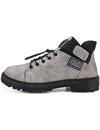 Botas para Hombre Botines De Gancho Loop Zapatos Casuales Antideslizantes Zapatillas De Deporte Impermeables Calzado Deportivo