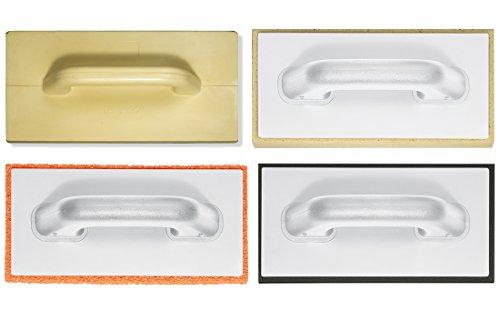 Reibebrett Set 4 teilig Moosgummi Schwammgummi Putzer Hydro Glätter Reibe Brett für Maurer und Fliesenleger
