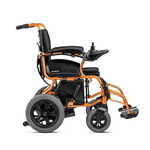 Lunzi Kinderleichter, faltbarer Doppelfunktions-Elektrorollstuhl mit ausziehbaren, schreibtischlangen Armen und hochstellbaren Beinstützen für zusätzlichen Komfort (Elektromotorischer Rollstuhl) -