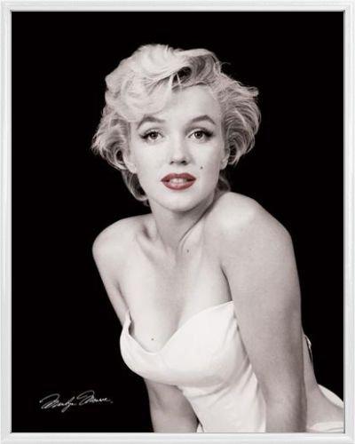 Marilyn Monroe Mini-Poster und Kunststoff-Rahmen - Liebeslippen (50 x 40cm)