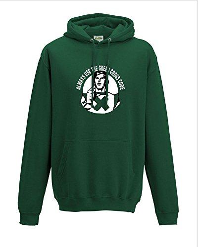 Green Cross Code Man Hoodie