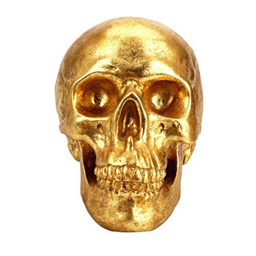 Menschlichen Kopf Goldene Knochen Harz Schädel Handwerk Spardosen Sparschwein Halloween Moderne Europäische Kreative Dekoration