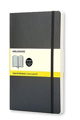 Carnet quadrillé Format de poche Moleskine Couverture souple noire 9