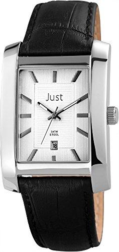 Just Watches 48-S6355SL-BK - Orologio da polso da uomo, cinturino in pelle colore nero