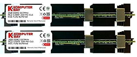 Komputerbay 4Go (2x 2Go) DDR2 PC2-5300F 667 CL5 ECC Fully Buffered 2RX4 FB-DIMM (240 PIN) avec répartiteurs de chaleur pour les ordinateurs Apple