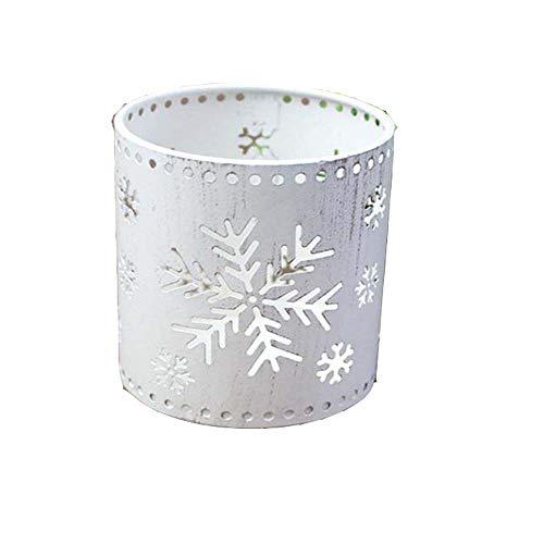 Bougeoir Porte-No/ël Creux Bougeoir Mini Vintage Marocaine Lanterne /à Bougie Romantique Photophore Votive Sparkly Candelabra Arbre De No/ël Accueil Parti D/écor Reindeer Design Blanc
