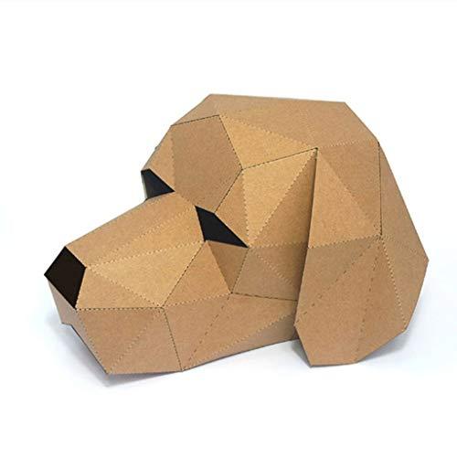 chenpaif 3D papercraft Maskerade Tier Cosplay Papier Maske karton Haus DIY Handwerk für Festival Party 2 (Karton Haus Kostüm)