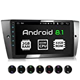 XOMAX XM-90BA Autoradio con Android 8.1 adatto per 3er BMW I 8 Core, 2GB RAM, 32GB ROM I Navigatore GPS I Supporto WIFI, 4G, DAB, OBD2 I Bluetooth I Touch Screen 9'' I USB, RDS