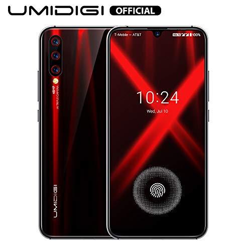 cellulari smartphone offerte, umidigi x sensore di impronte sotto lo schermo 6.35 amoled 48mp tripla fotocamera posteriore 128gb nfc helio p60 4150mah global version - fiamma nero