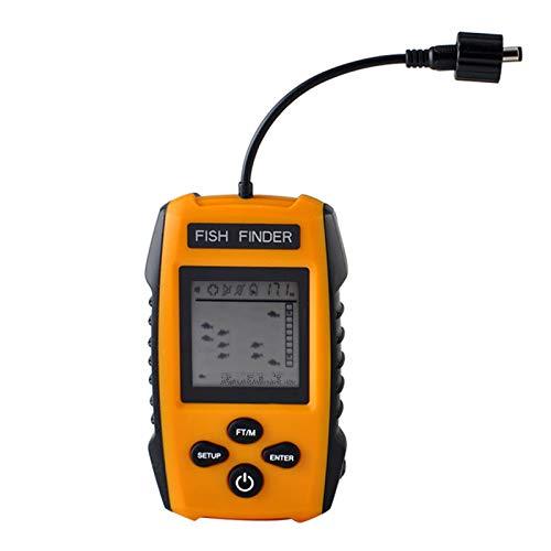 DvfeeL Tragbarer Fishfinder LCD-Display-Fishfinder mit kabelgebundenem Sonarsensor -