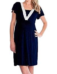 Inlefen Women's Maternity Nursing Nightdress Breastfeeding Nightie Dress
