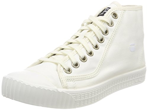 wholesale dealer 37187 ab127 G-STAR RAW Rovulc Denim Mid Sneakers, Zapatillas para Mujer, Blanco (White  110), 38 EU