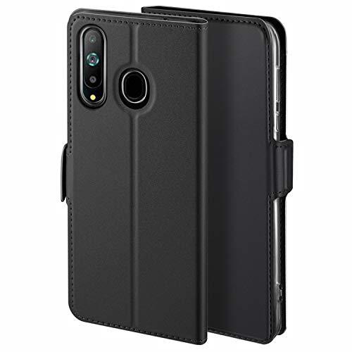HoneyCase für Handyhülle Samsung Galaxy A8S Hülle Premium Leder Flip Schutzhülle für Samsung Galaxy A8S Tasche, Schwarz