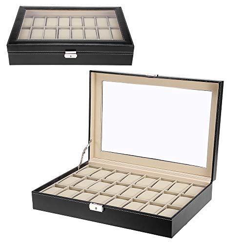 Zogin scatola porta orologi con 24 scompartimenti per tenere gli orologi in ordine...