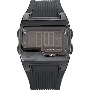 All Blacks - 680019 - Montre Homme - Quartz Digital - Cadran Noir - Bracelet Silicone Noir