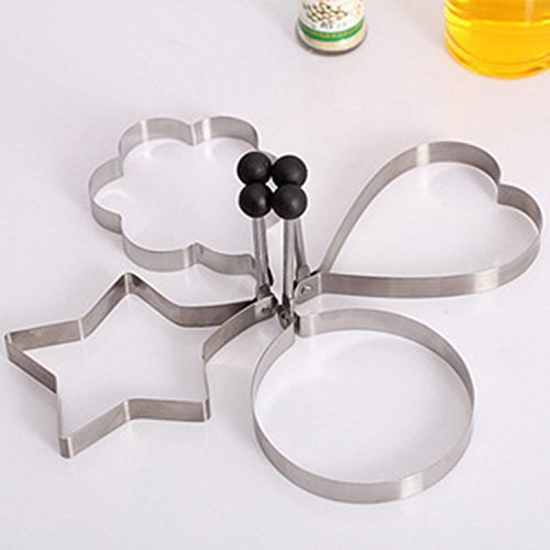 4PCS Mold Ring Cooking Fried Egg Shaper Test