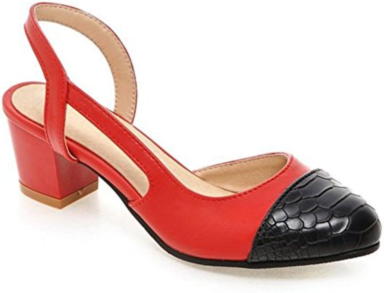 090f57d8c8477 Aisun Women s Stylish D-orsay Pointy Toe Sandals Chunky Mid Mid Mid Heels  Shoes B01F7B058I