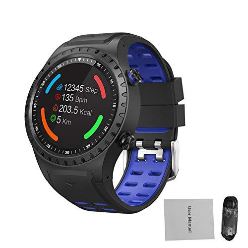 BeneU Smartwatch, Sportuhr, mit Kompass, kompatibel mit iOS und Android für Sport im Freien, Blau/Schwarz - Sport Im Freien