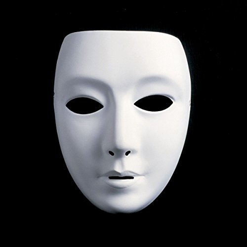 Naisidier 1 Pcs Full Face Halloween Kostüme DIY Blanko Malerei Maske Halloween Dance Ghost Cosplay Fancy Kleid Masquerade Party Maske ()