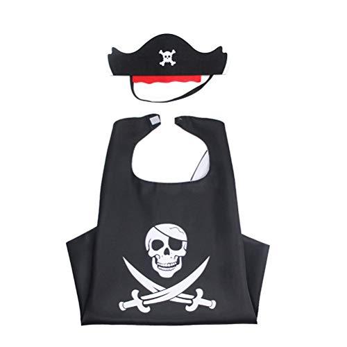Amosfun 2 stücke Piratenkostüm Set Kinder piratenmantel Maske Rollenspiel Maskerade Leistung Dress-up Cosplay kostüm