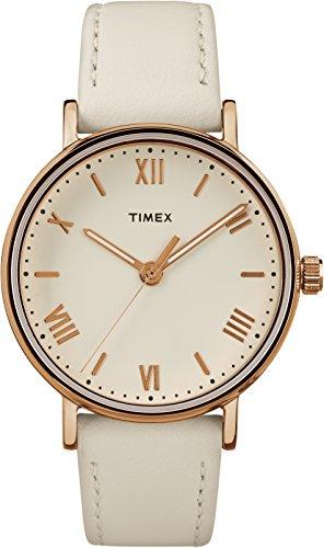 Timex Southview TW2R28300 – Reloj de cuarzo con correa de cuero para mujer, color blanco