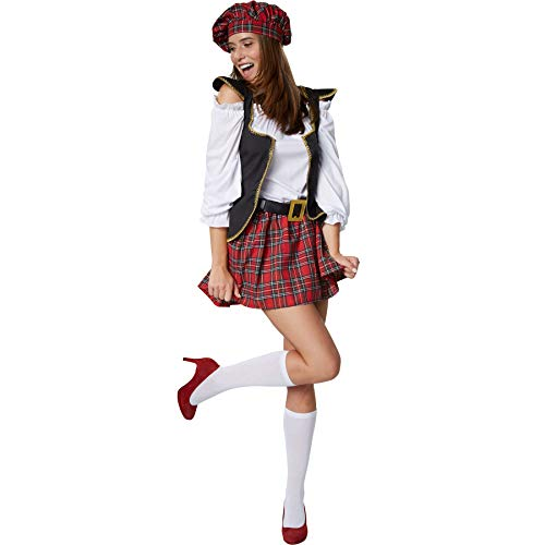Scottish Girl, Women's Sexy sCostume with a short tartan skirt