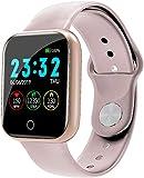 Smartwatch Damen Herren Fitness Armband Uhr Sportuhr Schrittzähler Pulsuhren Stoppuhr Kalorienzähler Schlafmonitor Android IOS