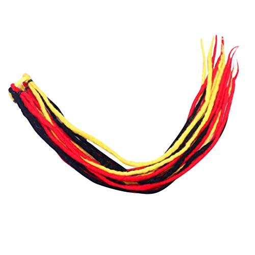 Dhyuen Color Perücken Curly Rope A Lady Wolle Nepalese Zügel mit bunten Perücken Viscera Perücke 60cm -