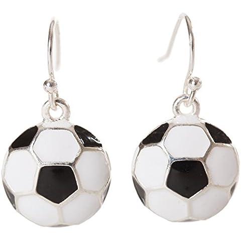 Artisan búho–Esmalte de balón de fútbol Sport Pendientes largos