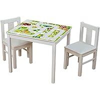 Preisvergleich für Möbelaufkleber Igelchenwelt - passend für IKEA KRITTER Kindertisch - Kinderzimmer Spieltisch - Möbel nicht inklusive