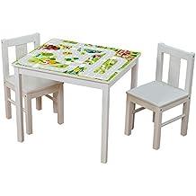 Möbelaufkleber Igelchenwelt - passend für IKEA KRITTER Kindertisch - Kinderzimmer Spieltisch - Möbel nicht inklusive