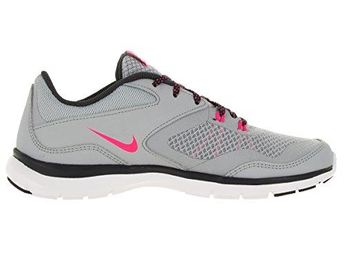 Nike Flex Trainer 5, Chaussures de Fitness Femme, 39 EU Gris (Wolf Grey / Hyper Pink-Anthrct)