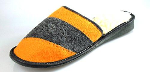 Unbekannt, Pantofole donna (Rot/Grau)