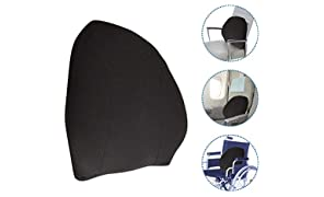The White Willow Orthopedic Memory Foam Lumbar Backrest For Back Support, Office Chair, Car Seat,Spine Alignment With Adjustable Strap - Black Mesh Fabric