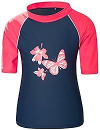 Mountain Warehouse T-shirt enfant fille Garçon natation sport nautique Protèction Anti UV UPF50 Tissu au séchage rapide
