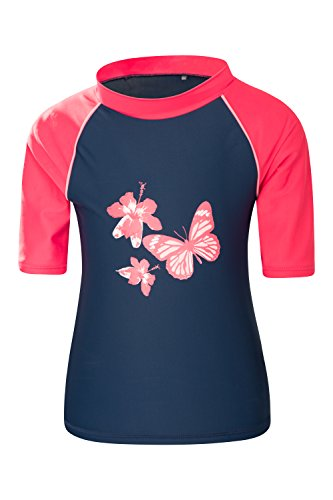 c89a34ef873a8 Mountain Warehouse Short Sleeves Printed Kids Rash Vest - UPF50+ Sun  Protection Rash Guard, Flat Seams, Quick Drying Rash Top - to Wear Under a  Wetsuit