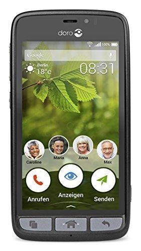Doro 8031 Smartphone, Memoria Interna 8 GB, Nero