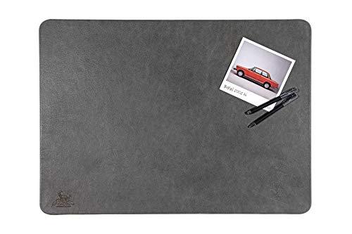 Centaur Schreibtischunterlagen 50x70 cm handgefertigt in Deutschland Schreibunterlage aus Leder Ecken abgerundet rutschfest grau basaltgrau weitere Farben & Größen