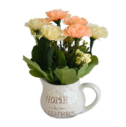 My Aashis Bunte lebensechte Natur modernes Design Dekorative künstliche Kunstpflanzen Topfpflanzen mit Keramik-Pflanzgefäß, Home Office Decor See The pics Same as Pics