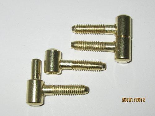 Preisvergleich Produktbild Einbohrband f. Möbeltüren, vermessingt, Ø 9 mm, 2 Stk., 0321016