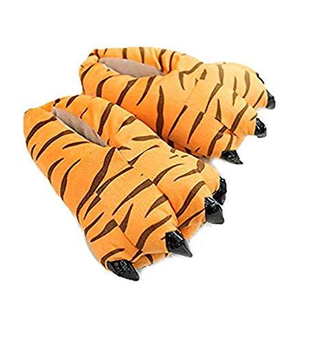 Pantofole zampe per kigurumi pigiami animali tuta costume carnevale halloween festa cosplay unisex (medium(33-38), pantofole tigre)