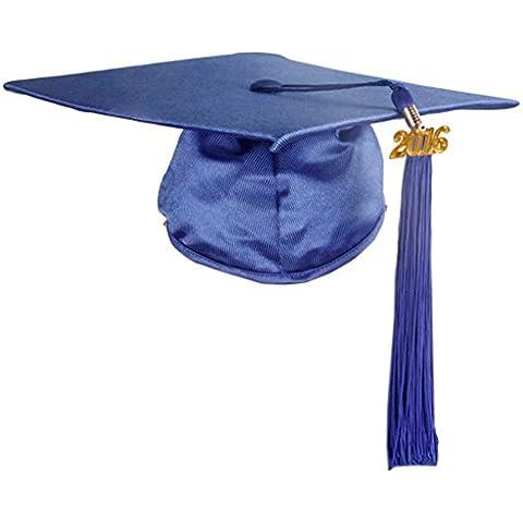 GraduationMall lucido stile US, Unisex adulti cappello di laurea con nappe 2016