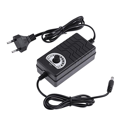 Broadroot Einstellbare AC zu DC Netzteil Adapter 1V-24V 2A 48W Licht Temperatur Motor Drehzahlregler für Motor Bohrmaschine