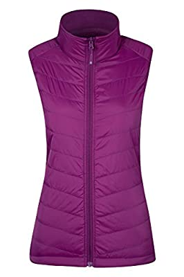 Mountain Warehouse IsoCool Dynamic Marble Womens Padded Gilet - Breathable Vest, Quick Drying Ladies Summer Jacket, Warm Gilet Jacket - for Cool Spring Weather