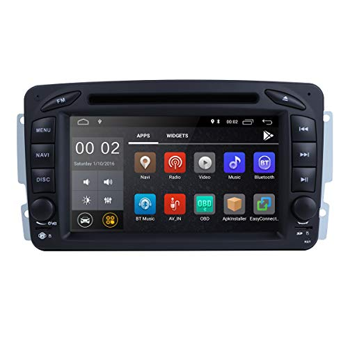 Android 8.1 Car Stereo DVD Player 2GB RAM Quad Core Autoradio Moniceiver DVD GPS Bluetooth Navigation For Mercedes-Benz C Class W203/Clk -C209/W209/Viano/Vito W639/Vaneo/G-W463/A-Class W168 …