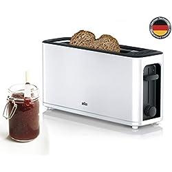 Braun HT3100WH Grille-Pain 1 Fente avec 7 Niveaux de brunissage Blanc, 1000