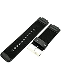 CASIO 10372541 Leather Nylon Watch Band for G-SHOCK G-7900 G7900MS-1B, Black